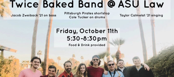 TODAY — Twice Baked Band rocks the Great Hall from 5:30 to 8:30!