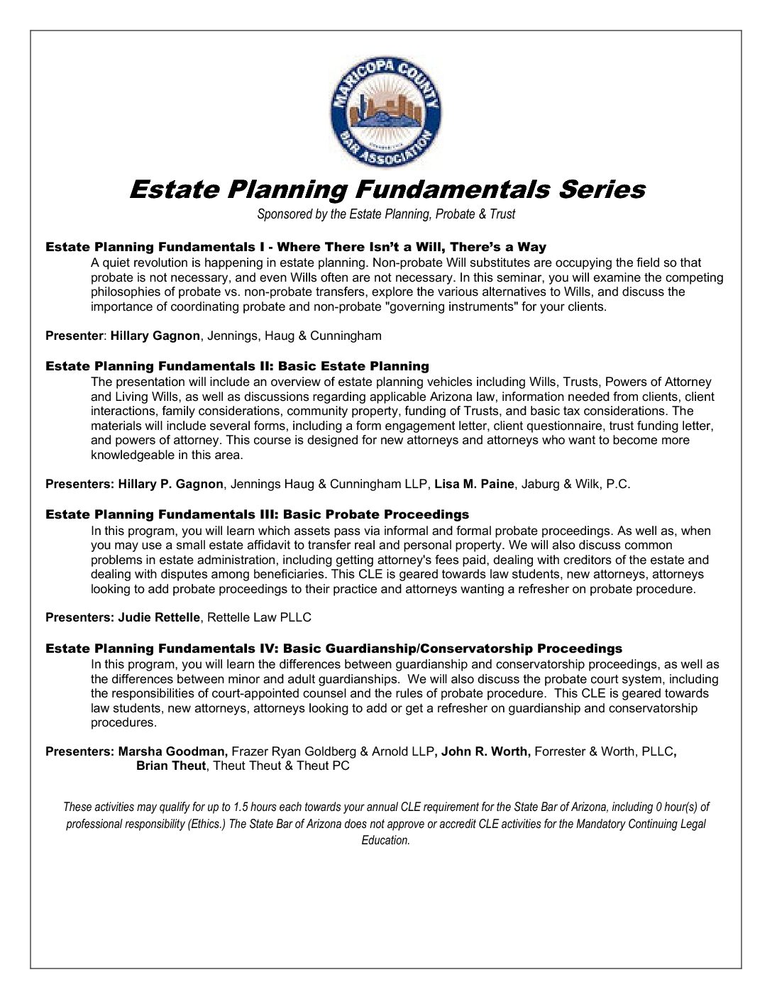 Estate Planning Fundamentals Series